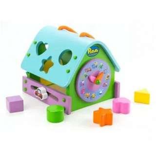 Pororo Wooden Toy House clock