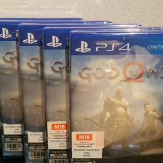 🚚 God of War (PS4) + Free Grip Cover Set