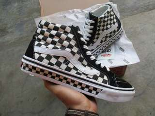 Vans Sk8-Hi Tape Checkerboard Black White