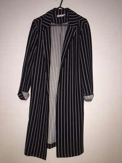 stripy cardigan