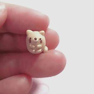 Polymer Clay Miniature Neko /Character Charms