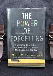 # Highly Recommended《Preloved Paperback + How To Learn To Forget And Accomplish More With Less Stress》Mike Byster - THE POWER OF FORGETTING : Six Essential Skills to Clear Out Brain Clutter and Become the Sharpest, Smartest You