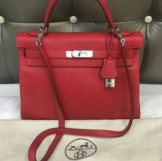 Hermes Kelly 32 Rouge Casaque