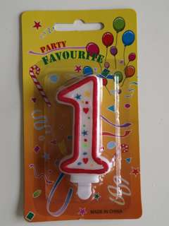 No. 1 Birthday Candle