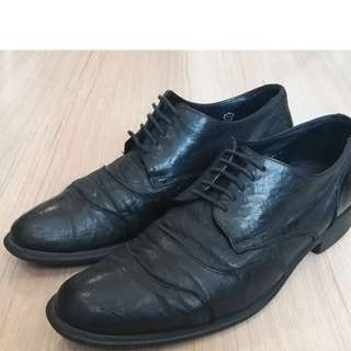 Black Kenneth Cole Leather Dress Shoes