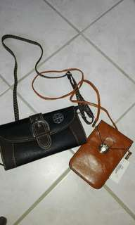 2 sling bags + 1 pouch