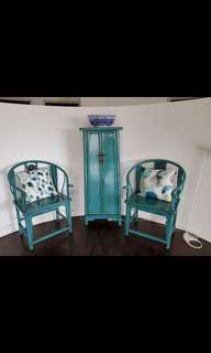 Turquoise colour Chair