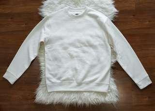 Giordano Unisex Pull Over White Sweatshirt