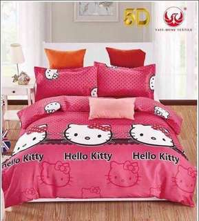 4 in 1 Hello Kitty Bedsheet