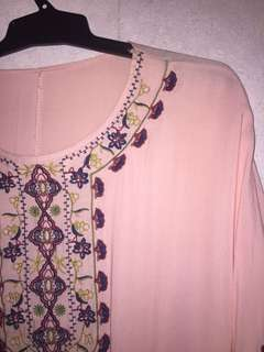Floaty embroidered top