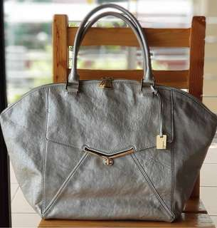 Authentic Botkier Valentina Silver Oversized Dome tote with beautiful gold hardware