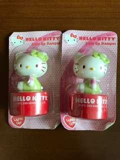 全新 絕版 Hello Kitty 印章 擺設