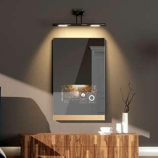 Magic mirror has speakers and Internet
