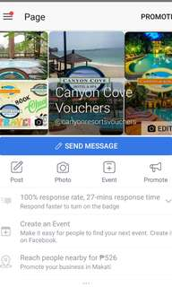 canyon cove vouchers - like our FB page