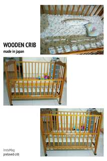 preloved baby crib... japan made...