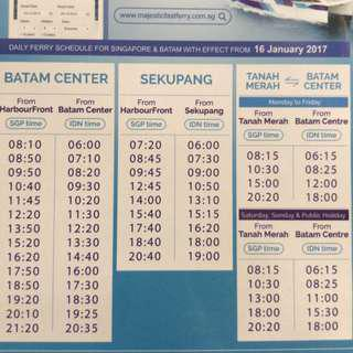 🚚 E-Tickets Batam Ferry - Majestic and Sindo