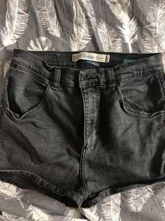 ZARA High waisted black shorts