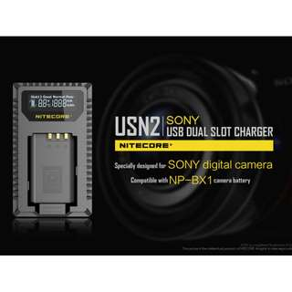 🚚 Sony NP-BX1 Dual-Slot USB Travel Charger Nitecore USN2