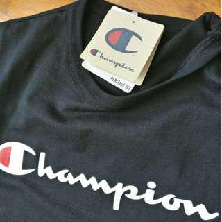 🚚 (2 for $72) Champion LIFE Heritage Script T-Shirt - Black