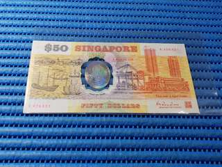 1990 Singapore 25th Years of Independence $50 Commemorative Banknote with Folder A 426821
