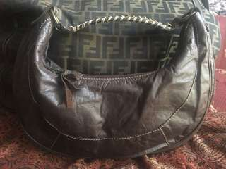 Coccinelle hobo leather bag made in italy