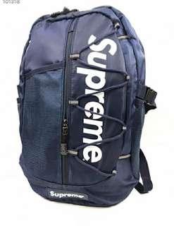 🚚 Superme深藍雙肩後背包