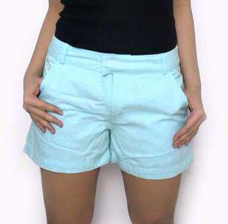 Plains & Prints Sky Blue Shorts