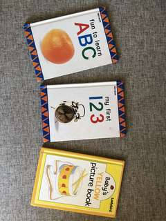 Set of 3 Baby Books