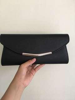 Black Formal Clutch Bag