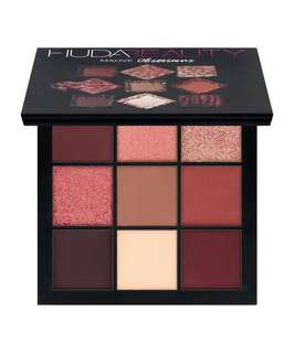 🚚 Huda Beauty Mauve Obsessions Eyeshadow Palette (Full-sized 1.1g x 9 colours)
