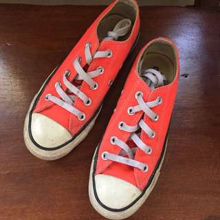 fiery coral converse