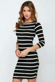 Longsleeve stripes dress