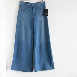 Marciano Medium Wash Stretch Wide leg flare Women's Jeans Size 27 denim NWT