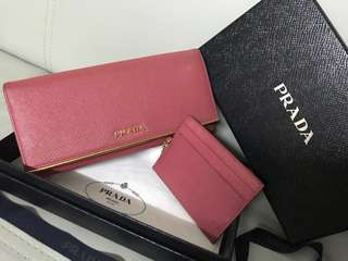 Prada Wallet 銀包連card holder(100% real)(full set)