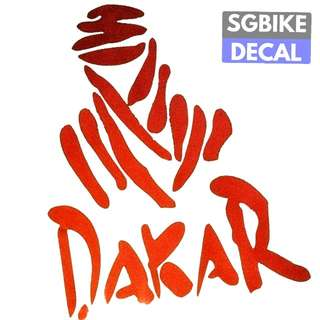 Red Dakar Reflective decal