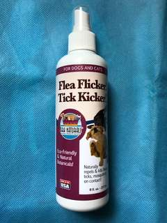 包郵! 美國直送 Ark Naturals - Flea Flicker! Tick Kicker! Dogs and cats - 防蝨噴霧,蚤,蜱,蚊,蟲 - 237ml (實物圖)