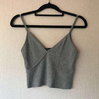 TOPSHOP Basic Grey Singlet Size 8