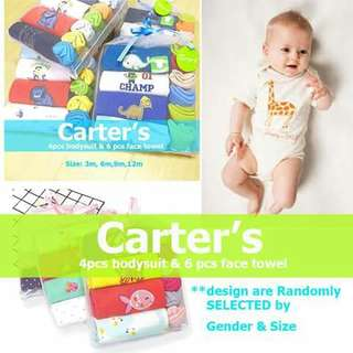 Carter's Onesies and Wash Cloth Set - BOYS