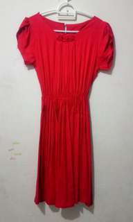 Dress Merah Polkadot