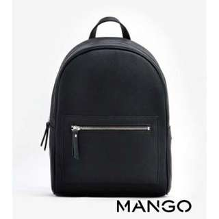 MANGO PEBBLED ZIP BACKPACK FREE SHIPPING!!!