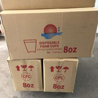 Disposable foam cups 1000pcs