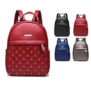 Woman Korean Leather Fashion Leisure Premium Backpack