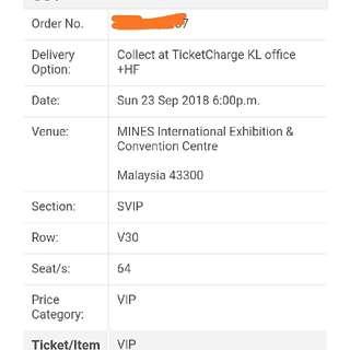 Seventeen VIP Ticket