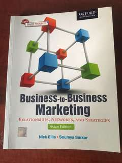 BUSINESS TO BUSINESS MARKETING TEXTBOOK