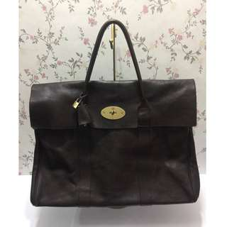 Preloved Authentic Mulberry Piccadilly Leather Weekend Bag Black