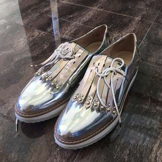 Silver shoes zara