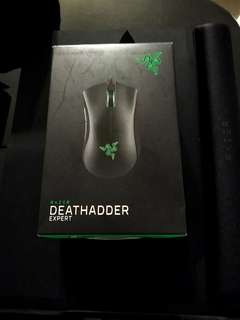 Razer Deathadder Expert Gaming mouse 電競雷蛇黑色滑鼠