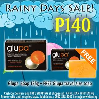 Glupa Skin Whitening Soap 135g Bundle