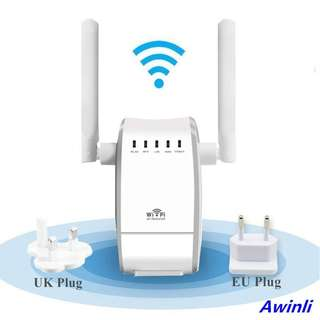 936. Wifi Router WiFi Repeater Wireless N Range Extender Mini Ap Router Signal Booster Mini AP Router Network Dual External Antenna 300 Mbps With WPS