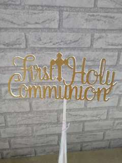 (M.T.O.) Cake Topper - First Holy Communion